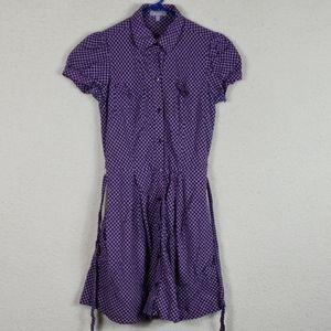 Delia's cute purple button down dress size medium